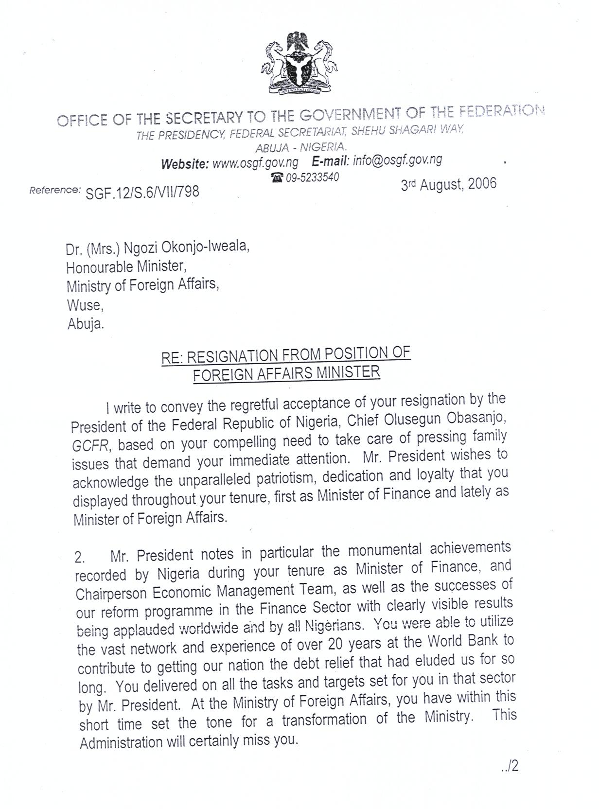 Resignation Letter Response